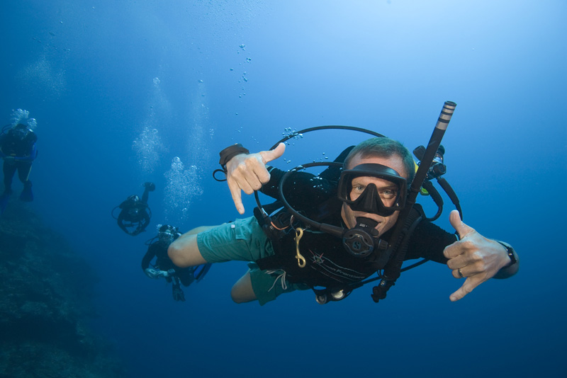 That's the feeling of diving