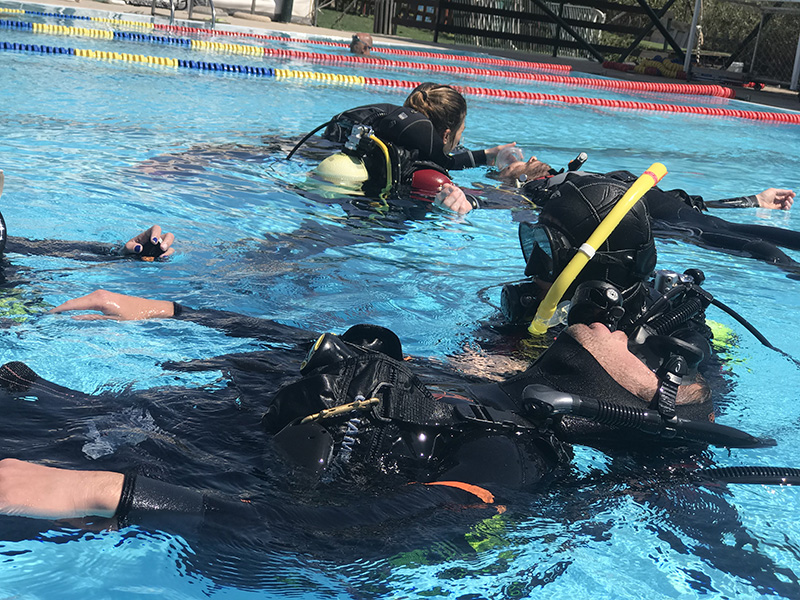 Rescue Exercises during Rescue Diver Course