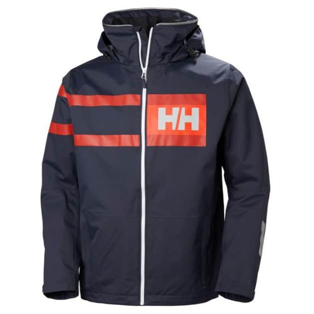 hh salt power jacket graphite blu