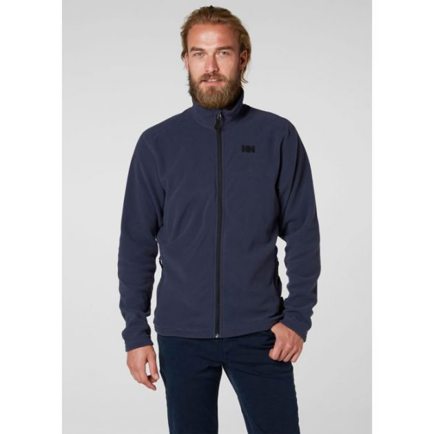 hh daybreaker fleece jacket graphite blue