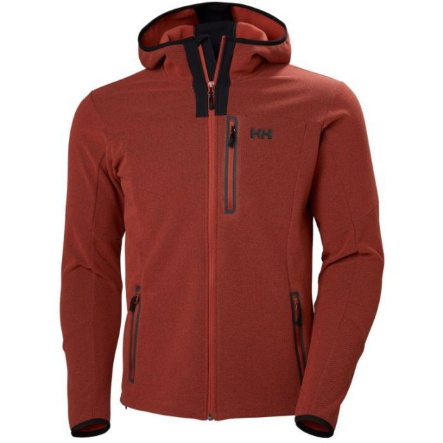 hh vanir fleece jacket red brick