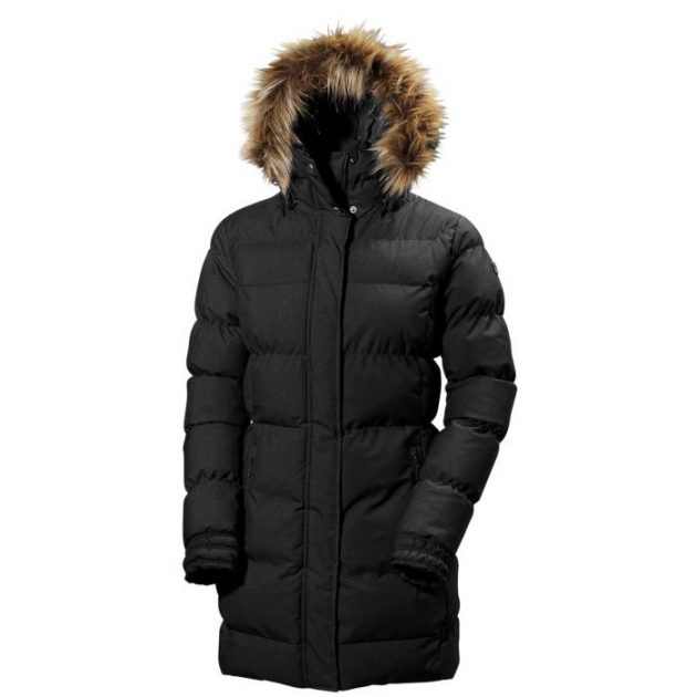 hh w blume puffy parka black
