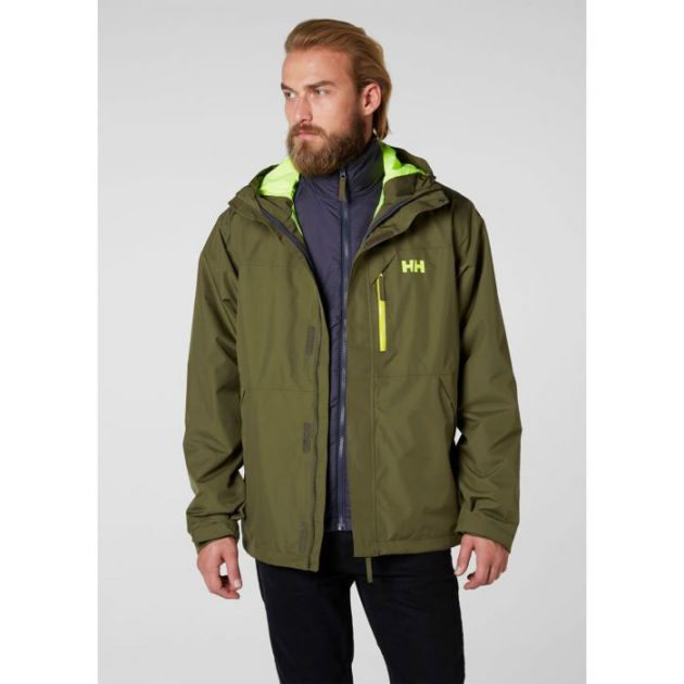 hh squamish jacket ivy green