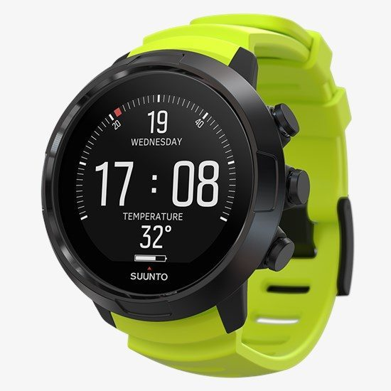 suunto d5 black lime with usb