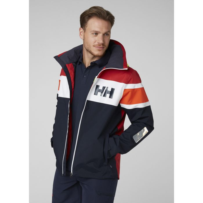 SALT FLAG JACKET NAVY RED HELLY HANSEN