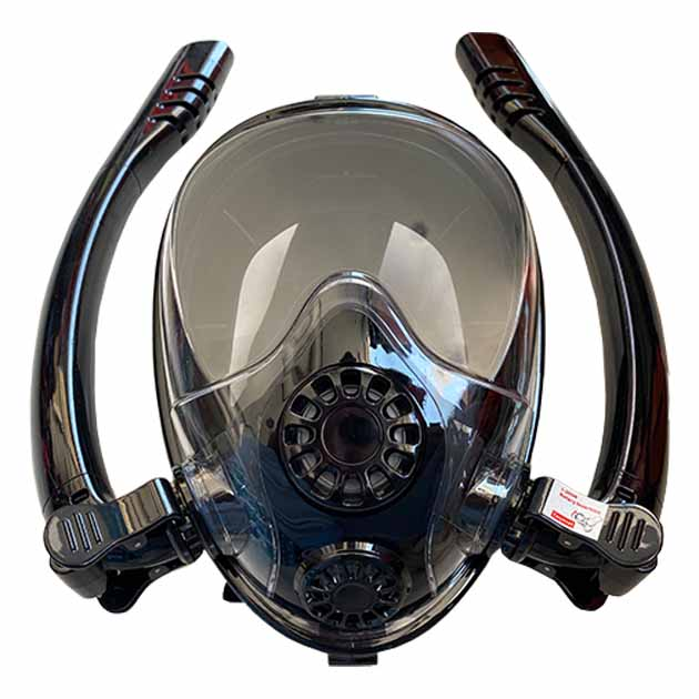 FULL FACE MASK WITH DOUBLE SNORKEL